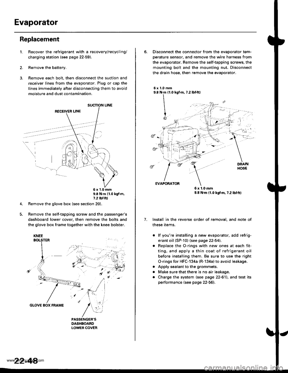 Honda Cr V 1999 Rd1 Rd3 1g Workshop Manual Mounted Glove Box Wiring Harness G Page