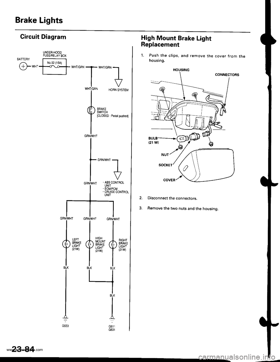 Abs Honda Cr V 1998 Rd1 Rd3 1g Workshop Manual Cruise Control Diagram Page