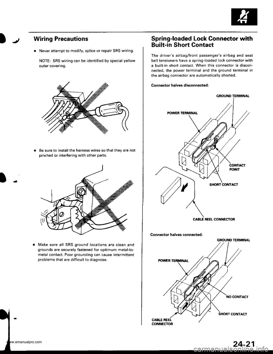 Airbag Honda Cr V 2000 Rd1 Rd3 1g Workshop Manual Crv Wiring Diagram Page