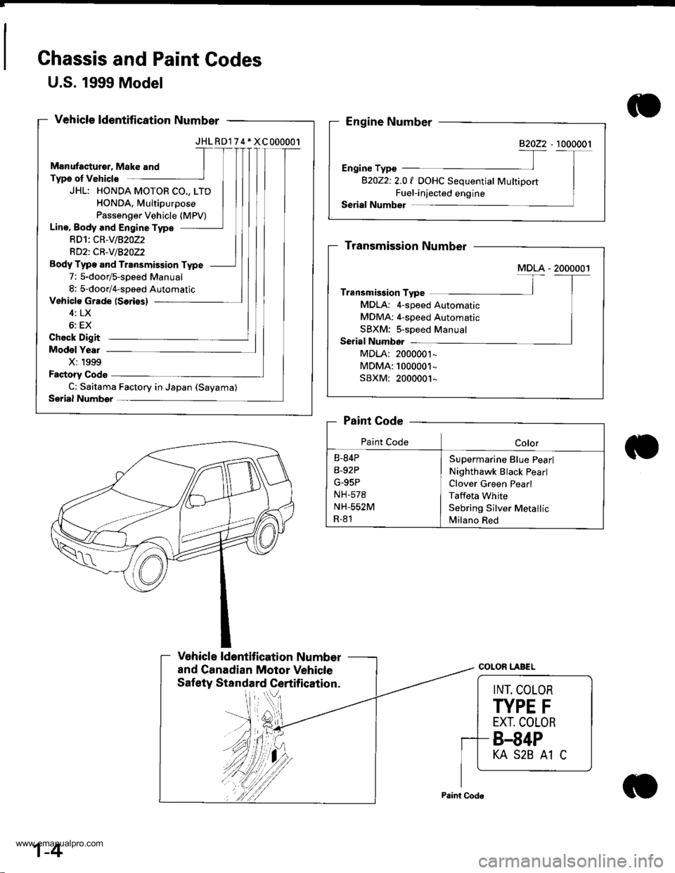 honda cr v 2000 rd1 rd3 1g workshop manual page