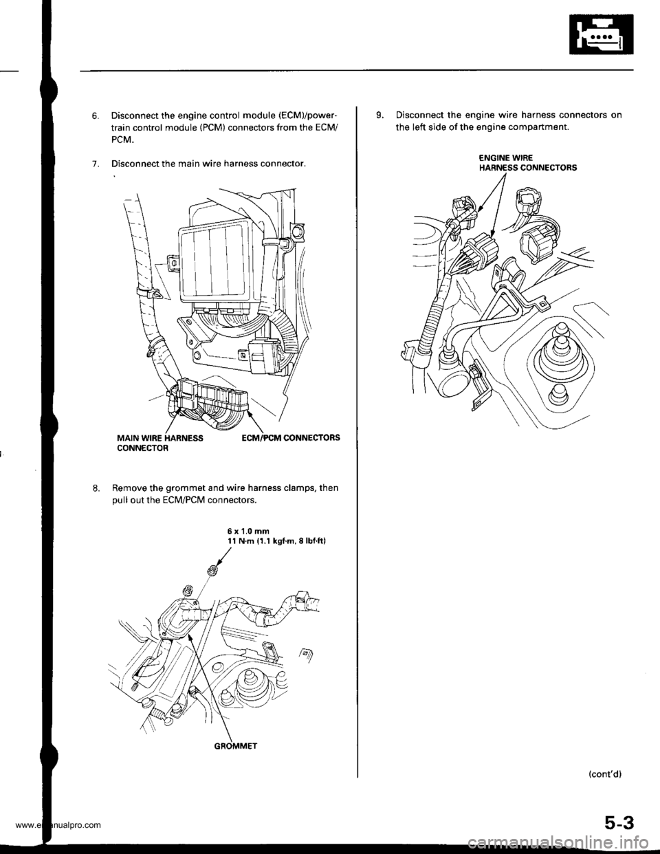 Engine Honda Cr V 2000 Rd1 Rd3 1g Workshop Manual Wire Harness Clamps Page 99 Of 1395