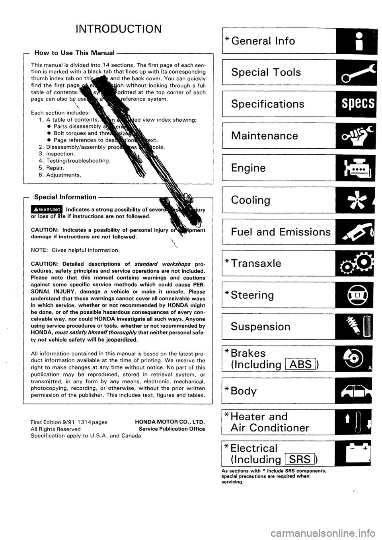 honda civic 1993 5 g workshop manual. Black Bedroom Furniture Sets. Home Design Ideas
