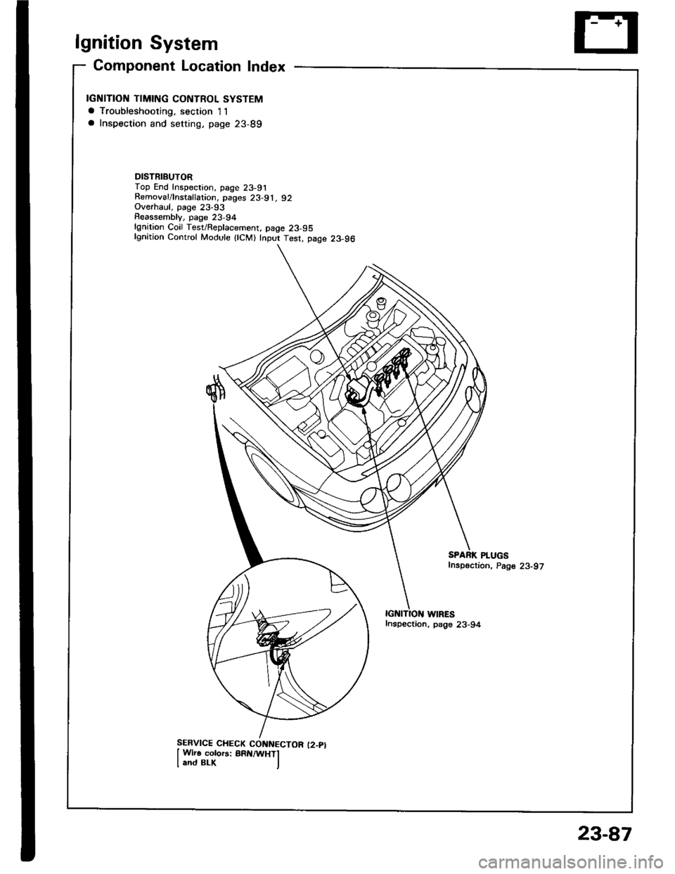 Honda Integra 1994 4g Workshop Manual 2000 Spark Plug Wiring Diagram