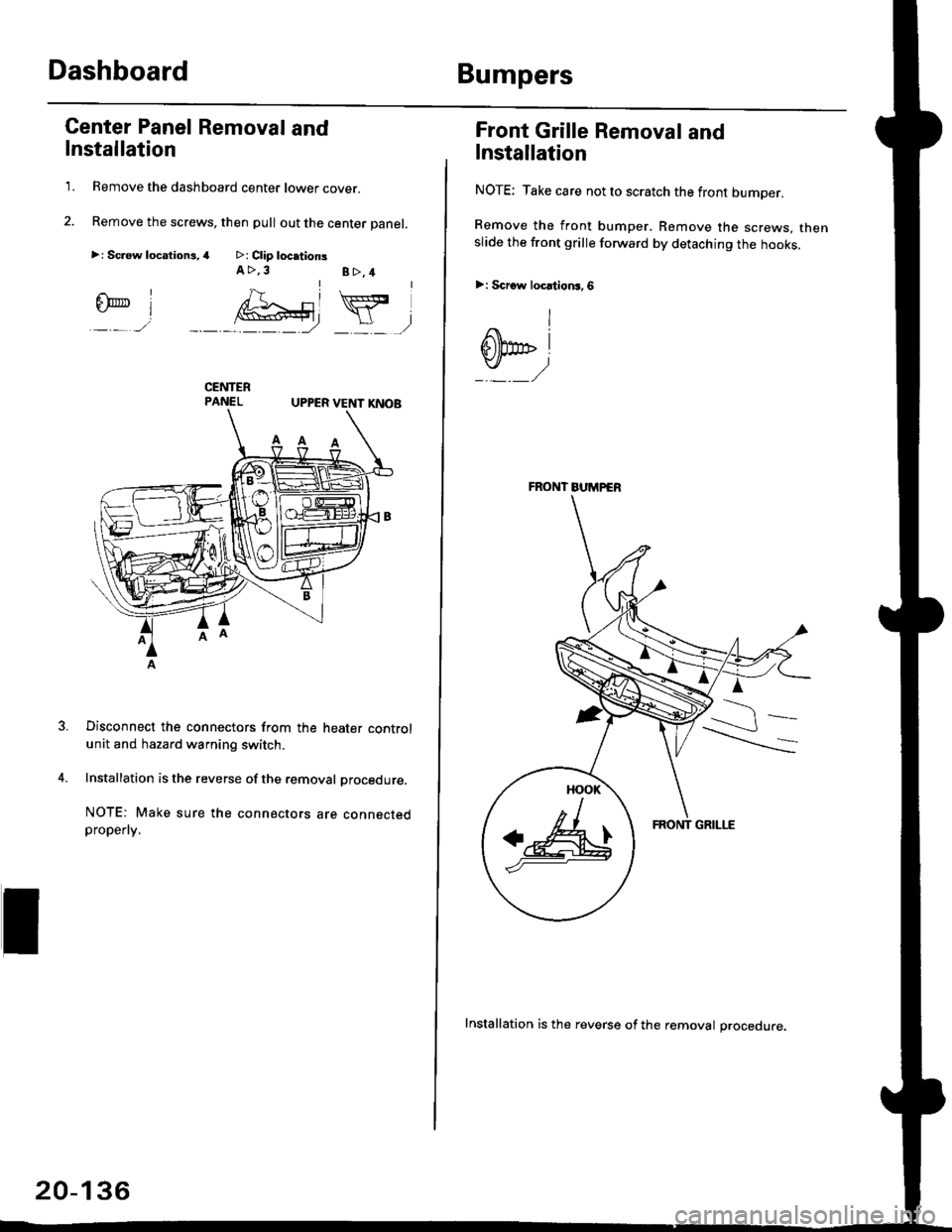 Warning Honda Civic 1998 6g Workshop Manual 98 Headlight Connector Page 1365