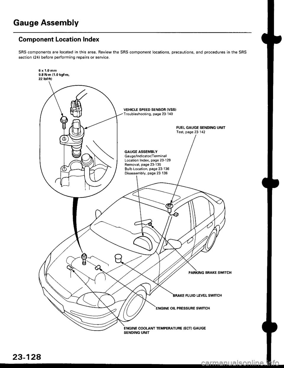 Oil Level Honda Civic 1997 6g Workshop Manual 1999 Accord Sending Unit Page 1598