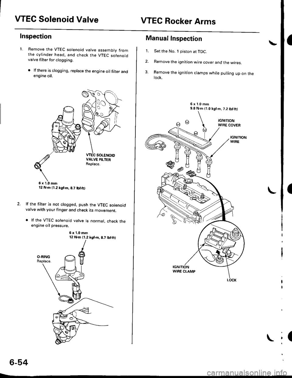 Honda Civic 1997 6g Workshop Manual Wiring Vtec Solenoid Page 164 Valvevtec Rocker Arms