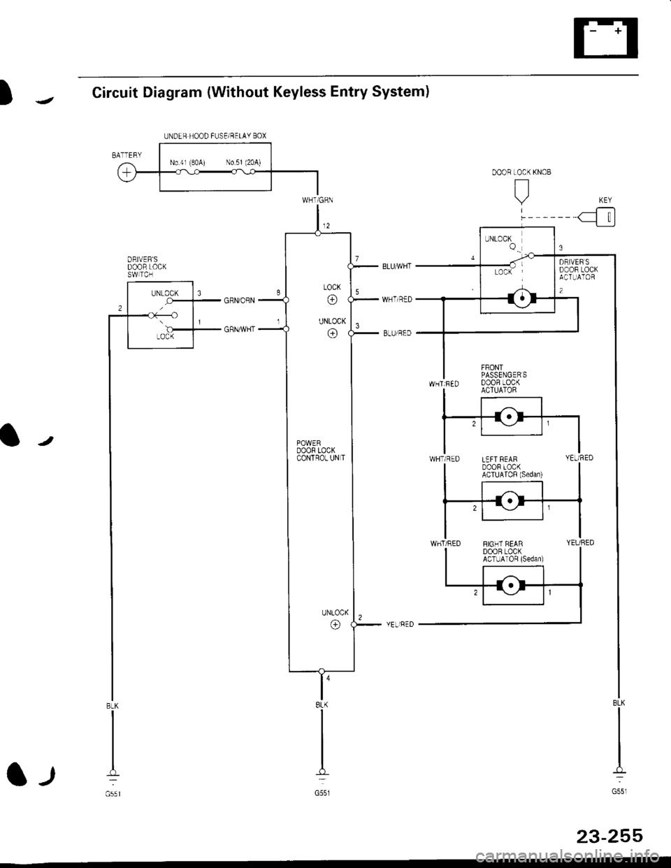 Honda Civic 1998 6g Workshop Manual Central Locking Wiring Diagram