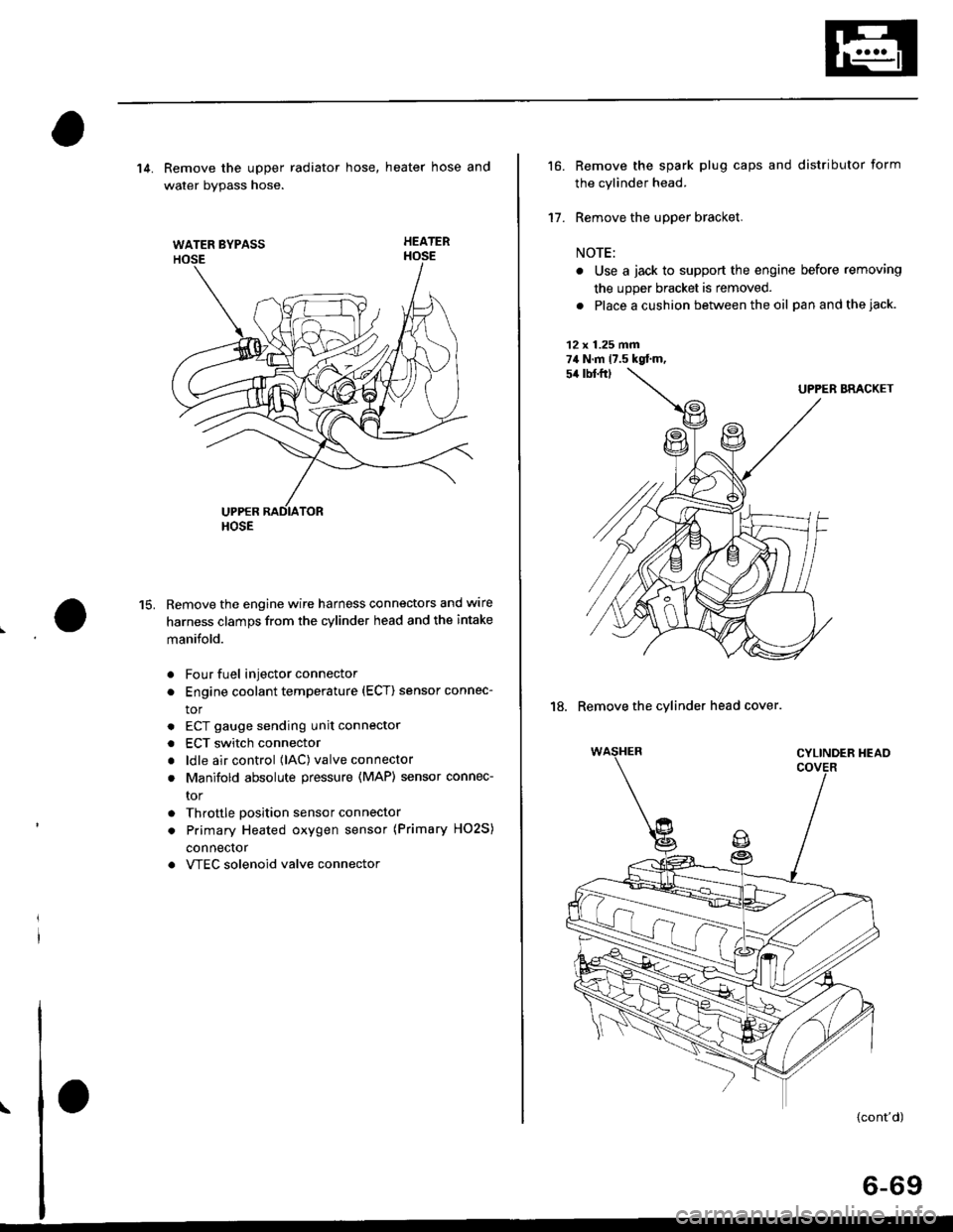 Engine Honda Civic 1997 6g Workshop Manual Intake Manifold Wiring Page 179