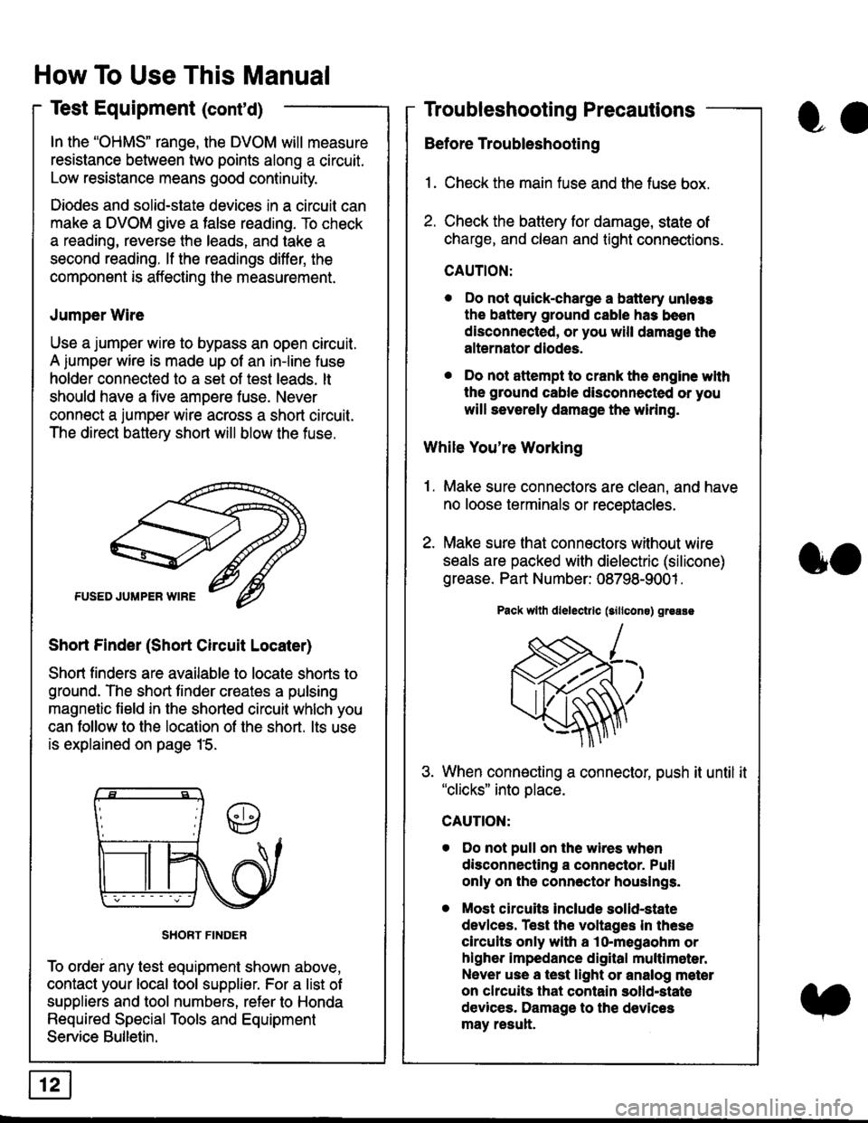 Engine Honda Civic 1997 6g Workshop Manual Fuse Box Connector Page 1829