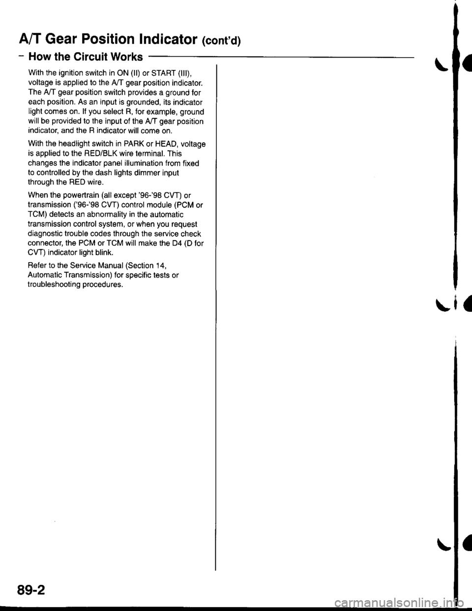 Honda Civic 1997 6g Workshop Manual 98 Headlight Connector