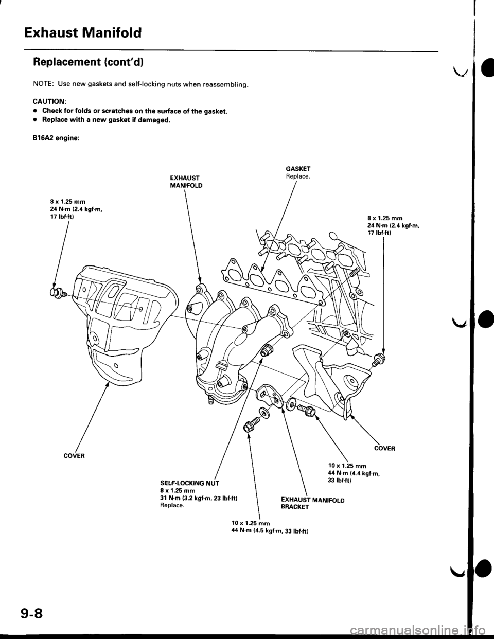 HONDA CIVIC 1997 6.G Workshop Manual, Page 249