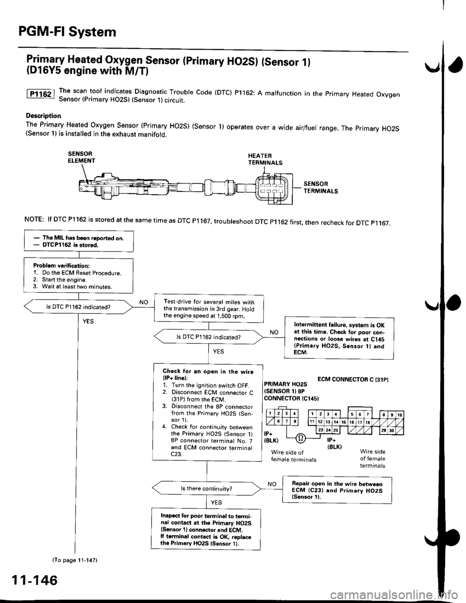 Honda civic 1997 6 g workshop manual page 415