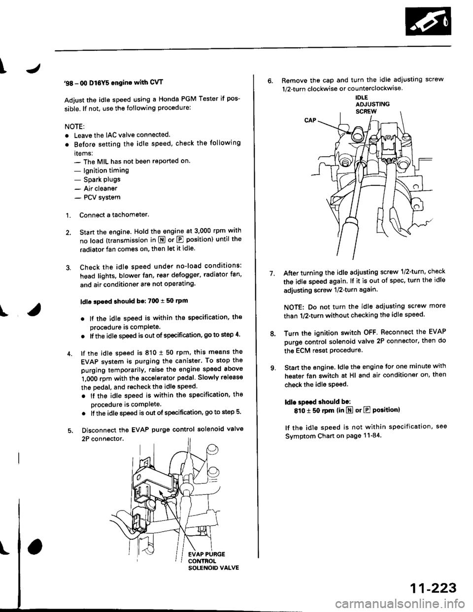 How To Reset Idle Air Control Valve Honda