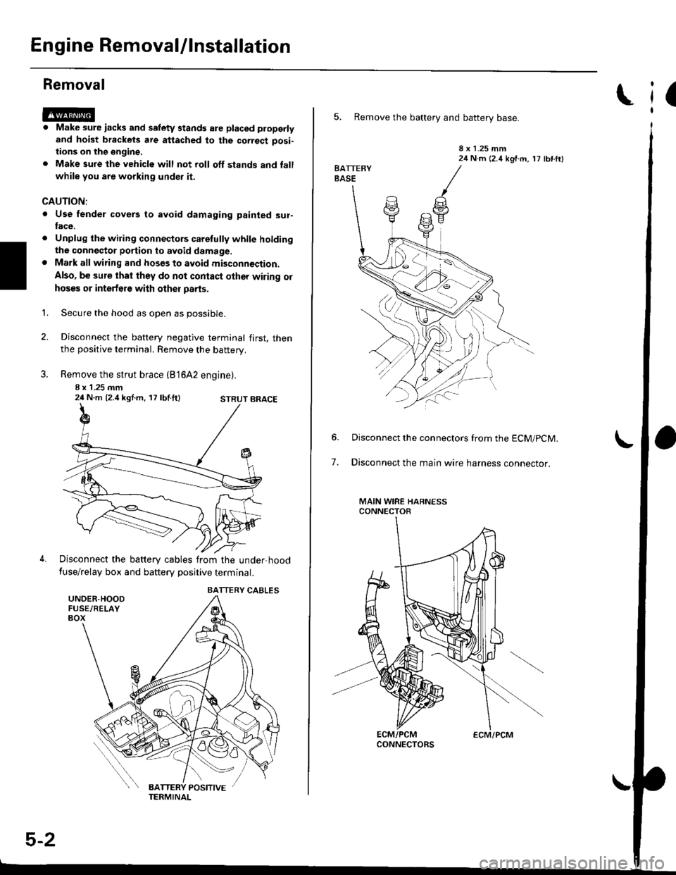 Battery Honda Civic 1996 6g Workshop Manual 2 4 Engine Diagram