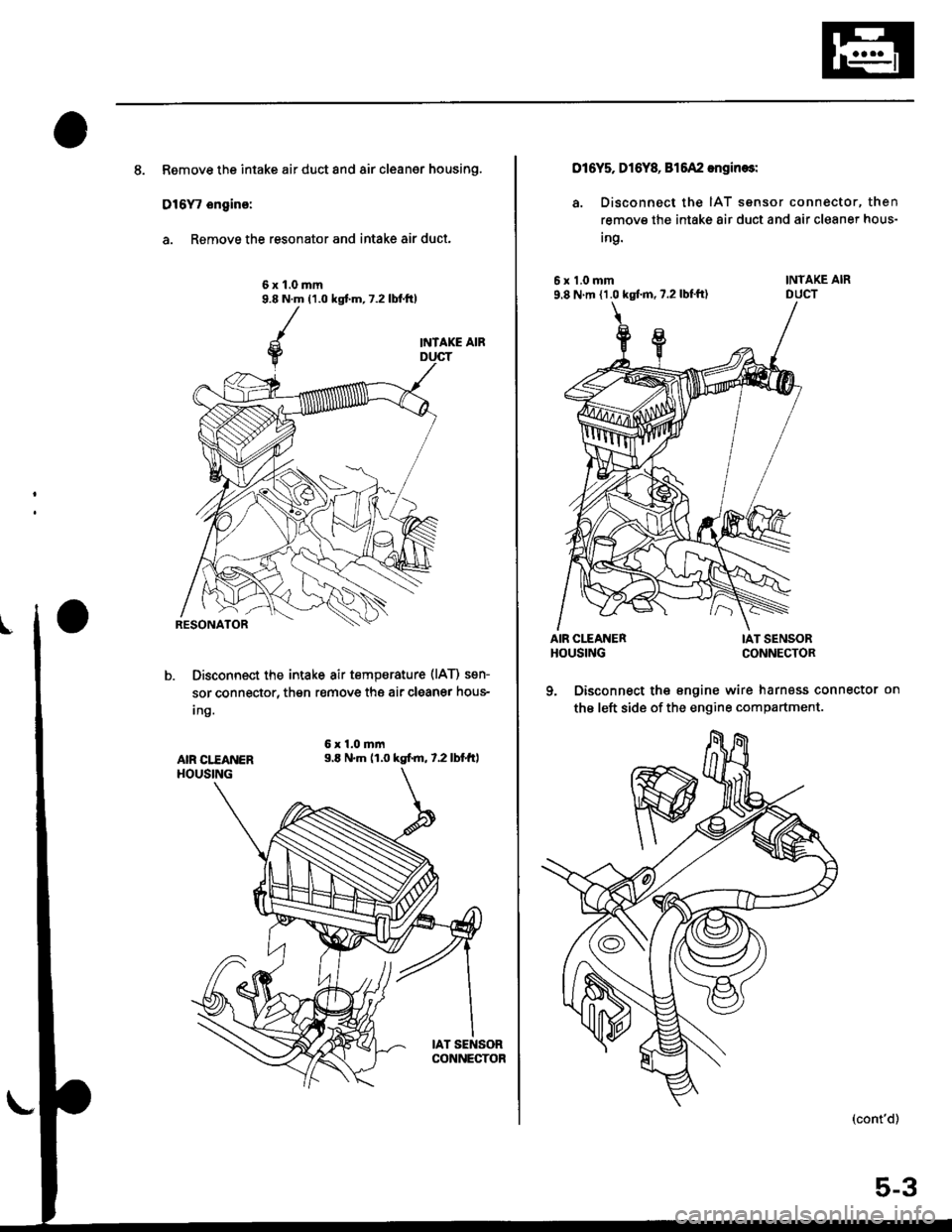 Engine Honda Civic 1996 6g Workshop Manual 1998 Lx Wiring Harness Page 97