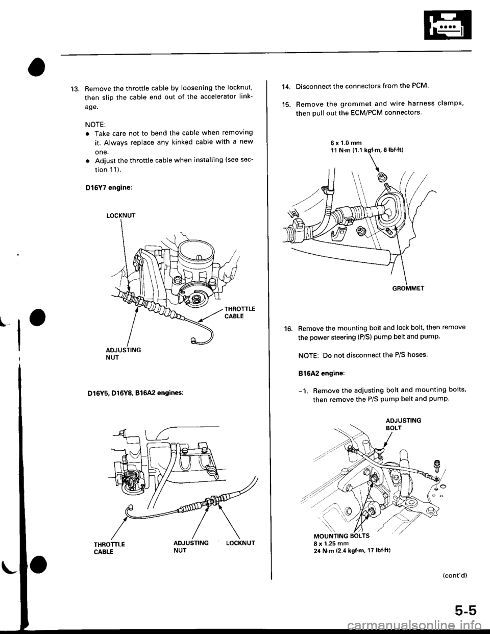 Engine Honda Civic 1996 6g Workshop Manual 1998 Lx Wiring Harness Page 99