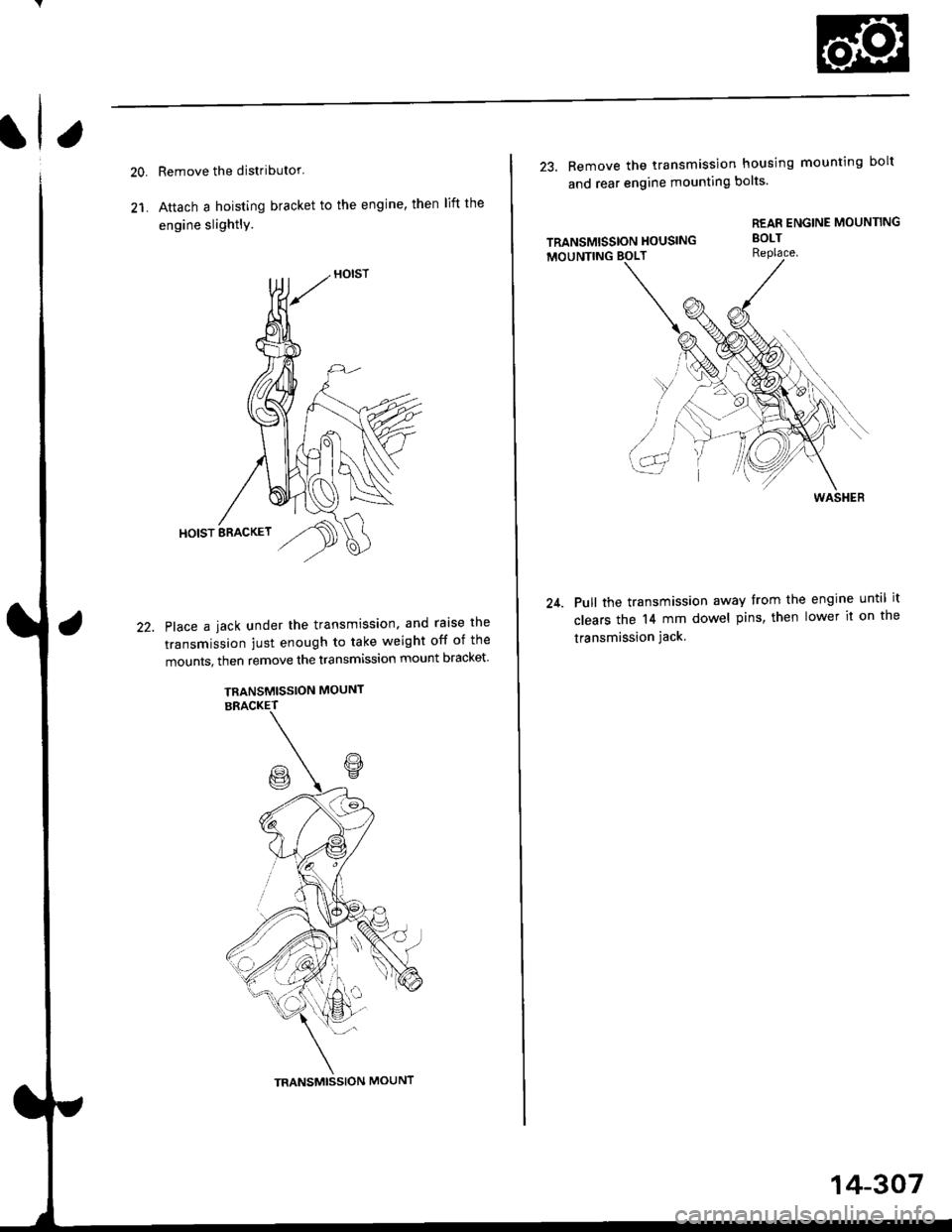 Honda Civic 1997 6g Workshop Manual Engine Mounts Diagram