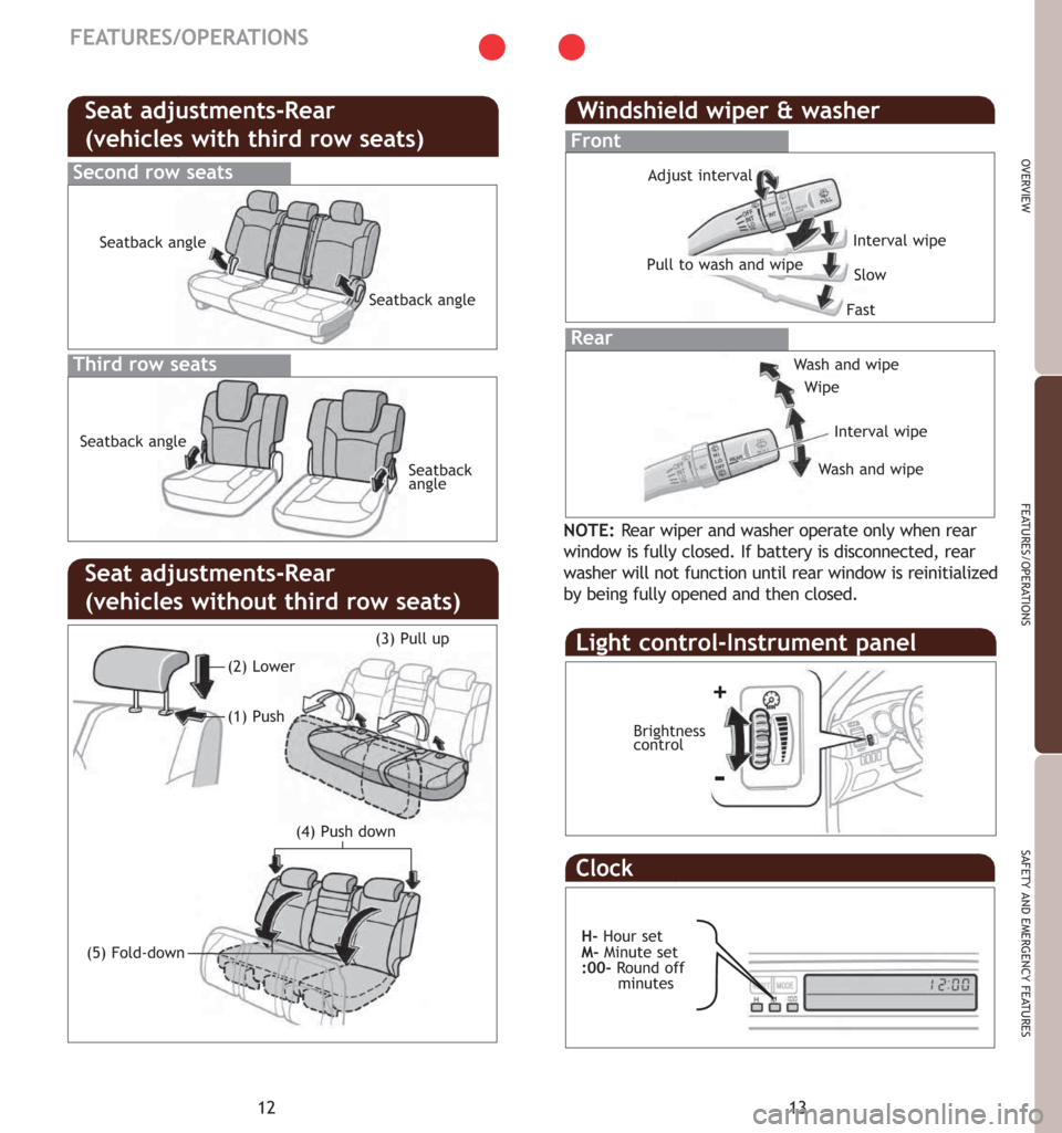 TOYOTA 4RUNNER 2007 N210 / 4.G Quick Reference Guide, Page 9