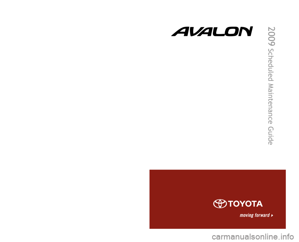 TOYOTA AVALON 2009 XX30 / 3.G Scheduled Maintenance Guide, Page 1