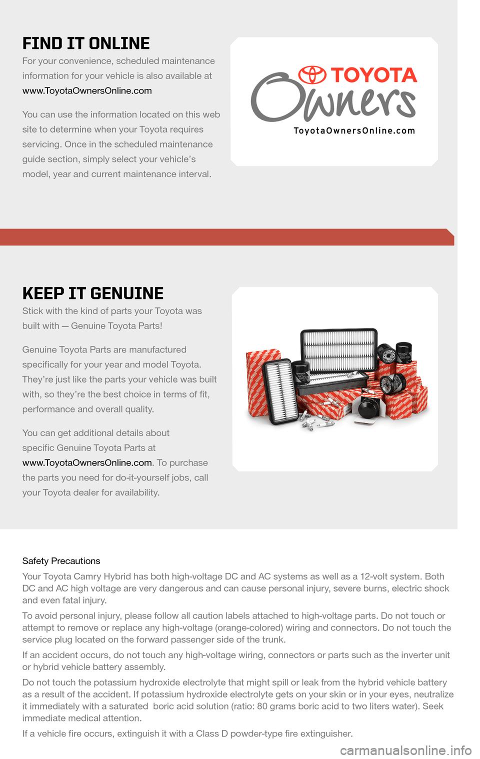 toyota camry hybrid 2009 xv40 8 g scheduled maintenance. Black Bedroom Furniture Sets. Home Design Ideas