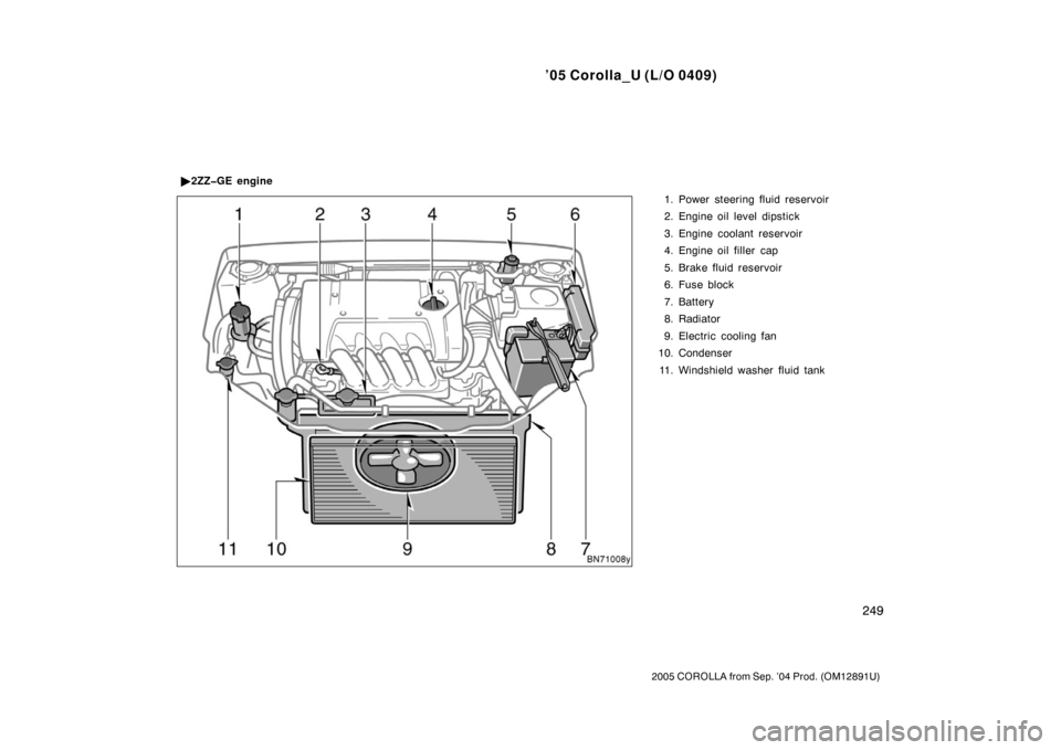 2005 corolla owners manual