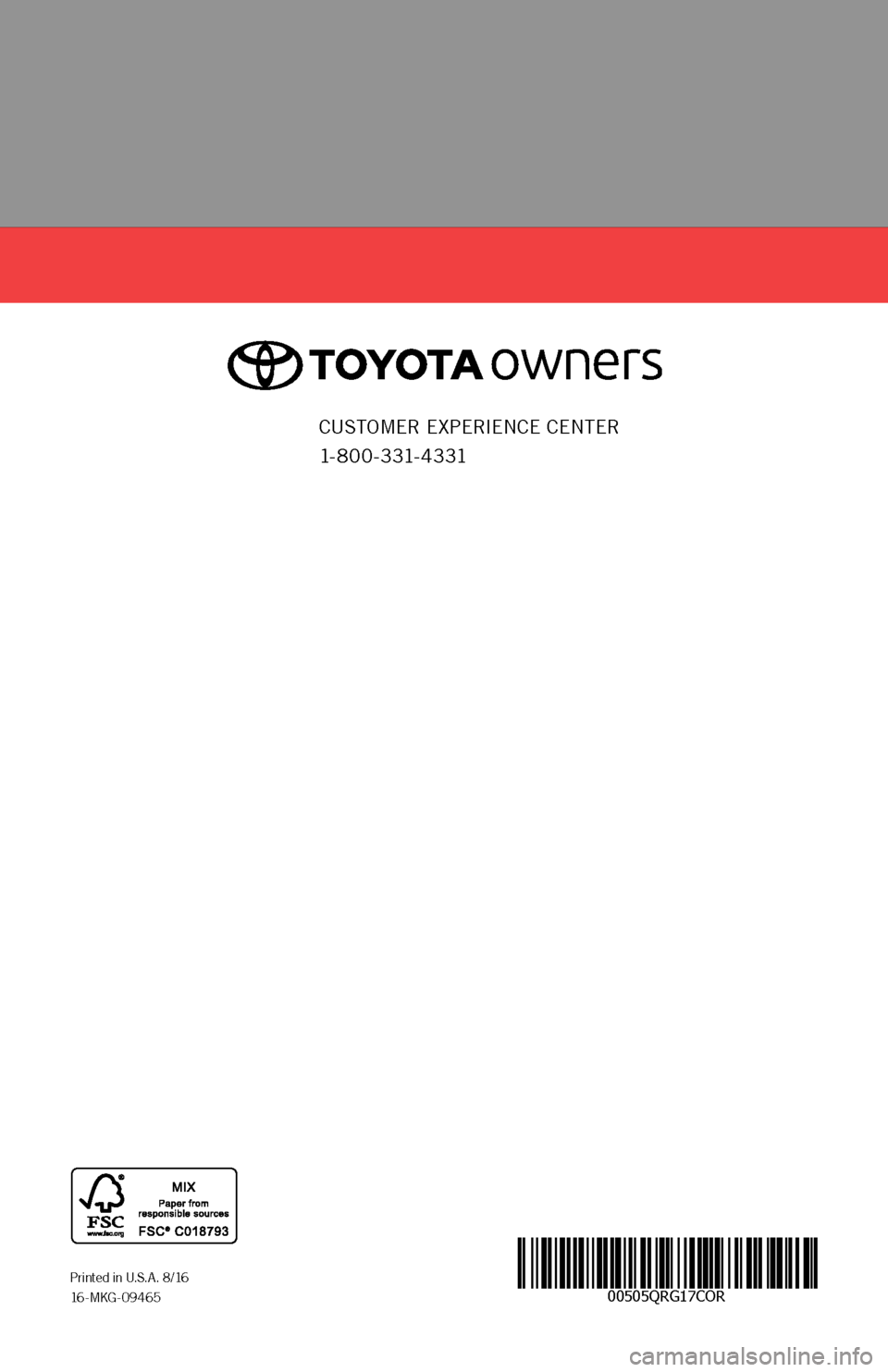 TOYOTA COROLLA 2017 11.G Quick Reference Guide, Page 52