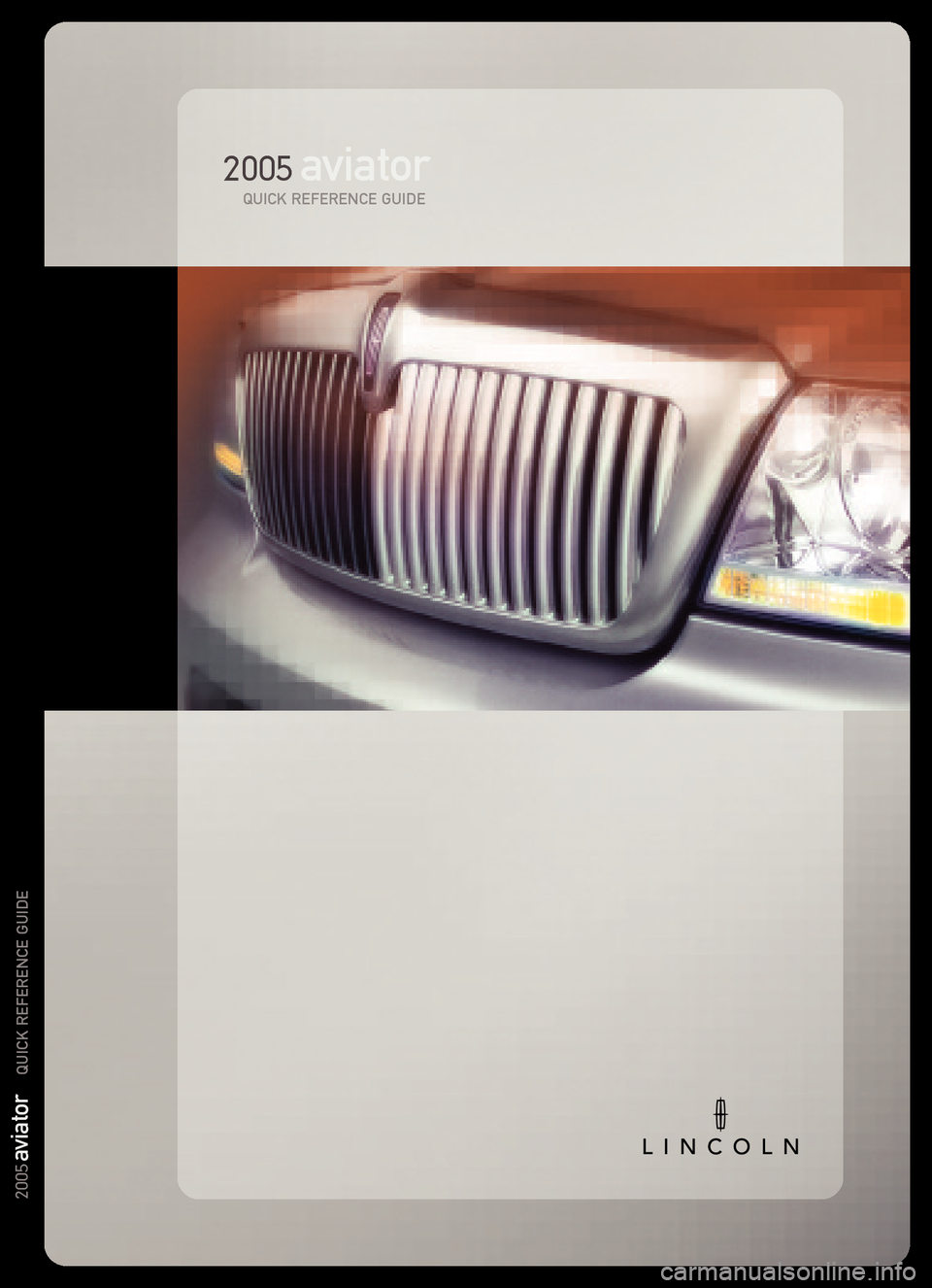LINCOLN AVIATOR 2005  Quick Reference Guide, Page 6