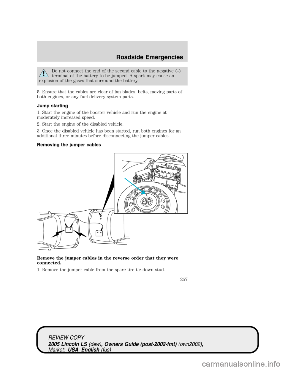 Lincoln Ls 2005 Owners Manual 2002 Engine Rebuild Diagram