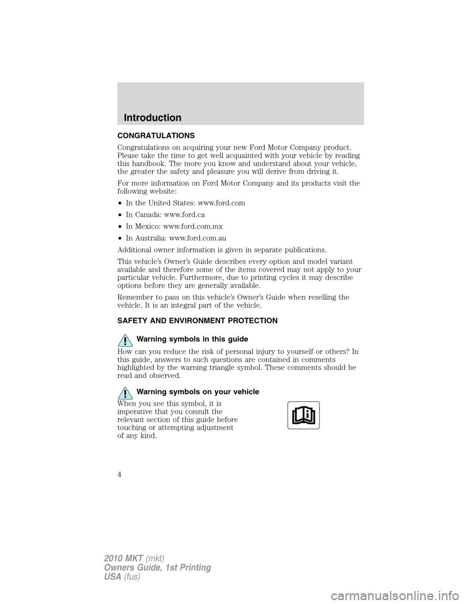2010 lincoln mkt service repair shop manual set factory 2 volume setand the wiring diagrams manual