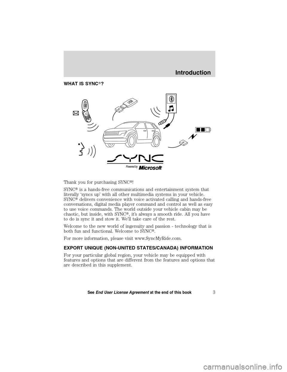LINCOLN MKT 2011  SYNC Supplement Manual, Page 4