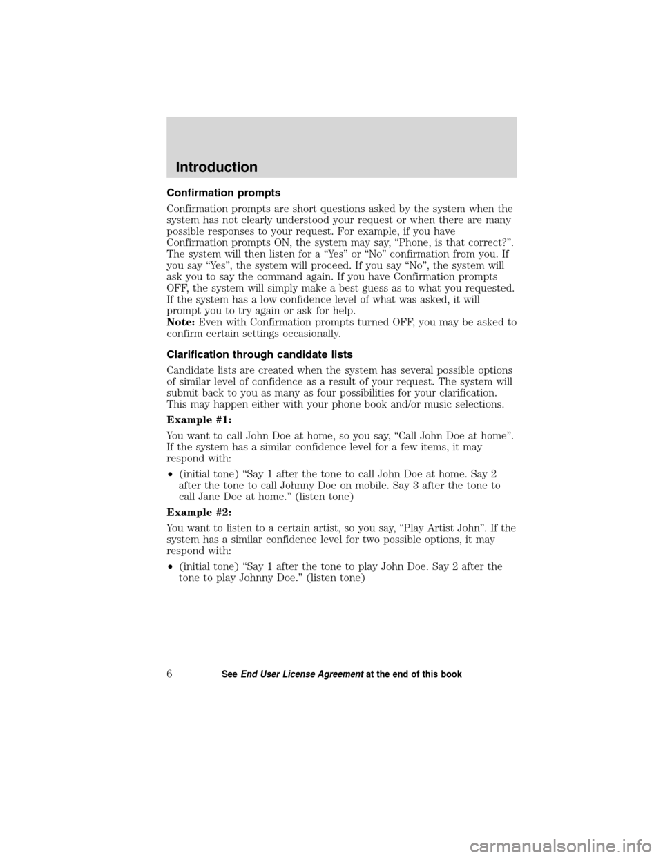 LINCOLN MKT 2011  SYNC Supplement Manual, Page 7
