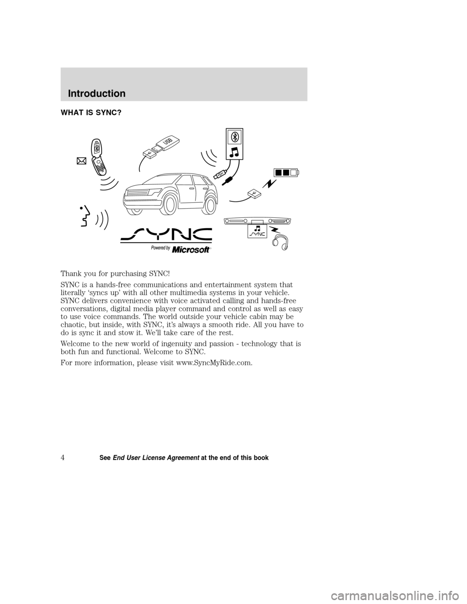 LINCOLN MKZ 2008  SYNC Supplement Manual, Page 10