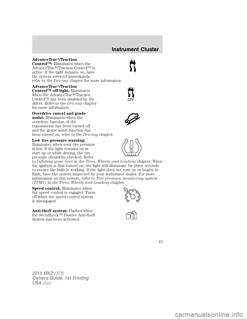 service manual  2010 lincoln mkz owners manual transmition