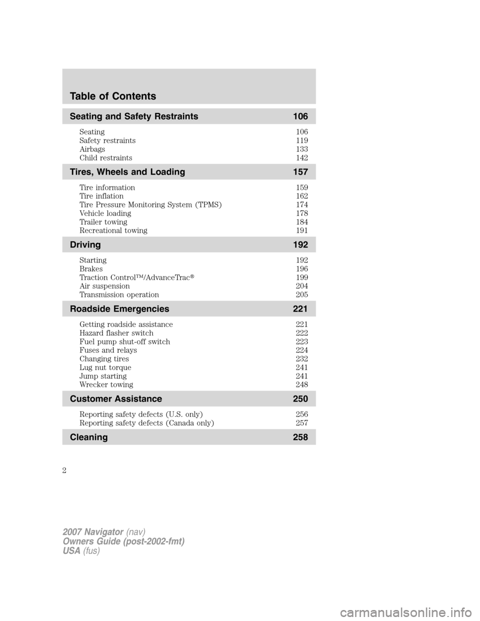 Lincoln LS - Owner s Manual - PDF ( Pages)