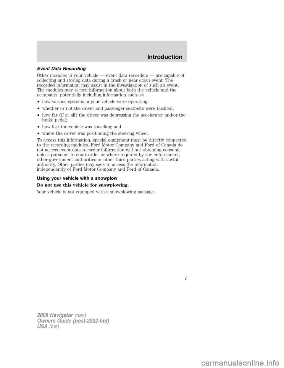navigator owners manual