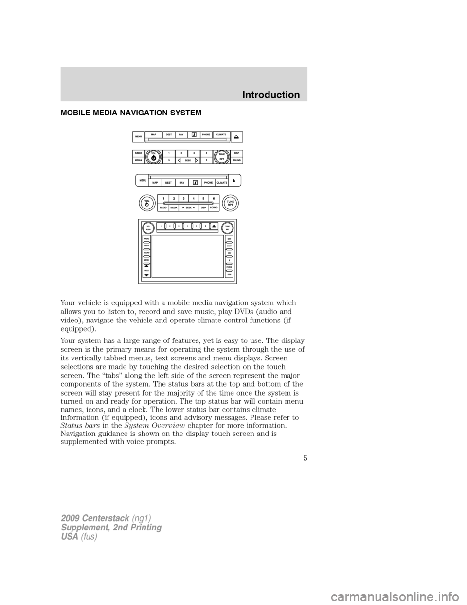 LINCOLN NAVIGATOR 2010  Navigation Manual, Page 6