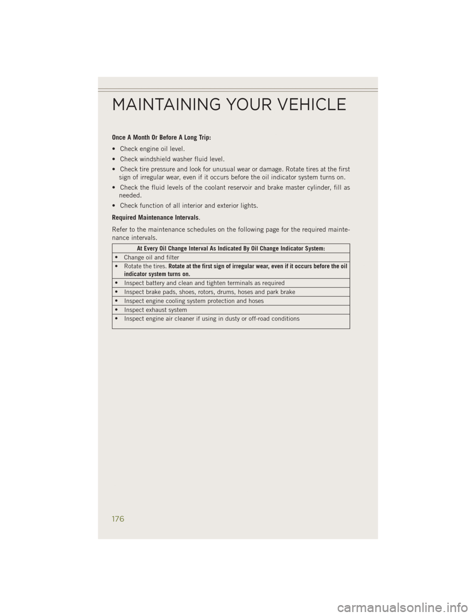 JEEP CHEROKEE 2014 KL / 5.G User Guide, Page 178