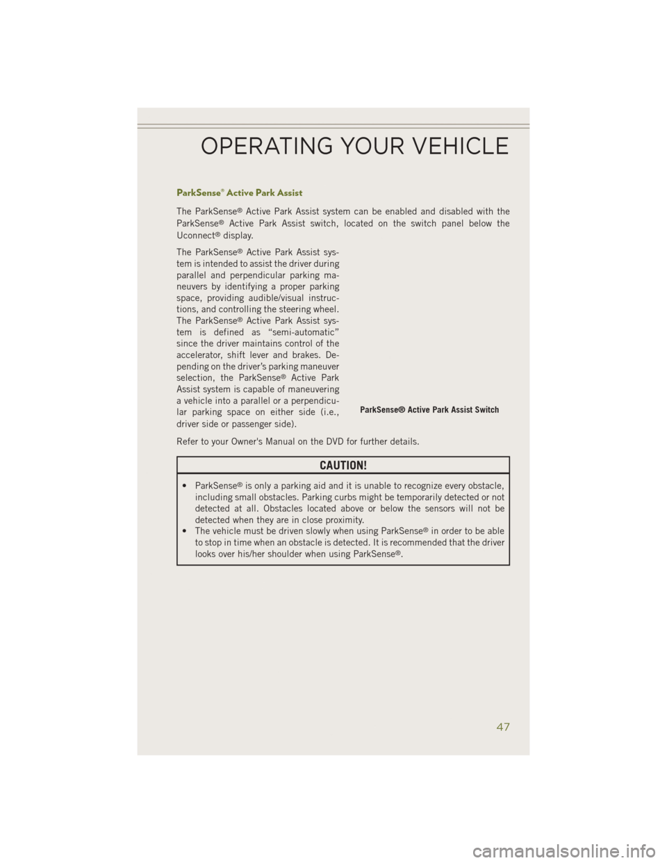 JEEP CHEROKEE 2014 KL / 5.G User Guide, Page 49