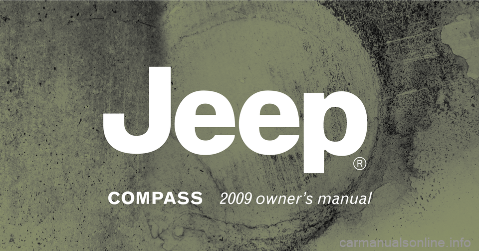 JEEP COMPASS 2009 1.G Owners Manual, Page 1