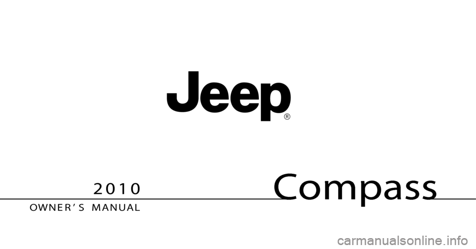 JEEP COMPASS 2010 1.G Owners Manual, Page 1