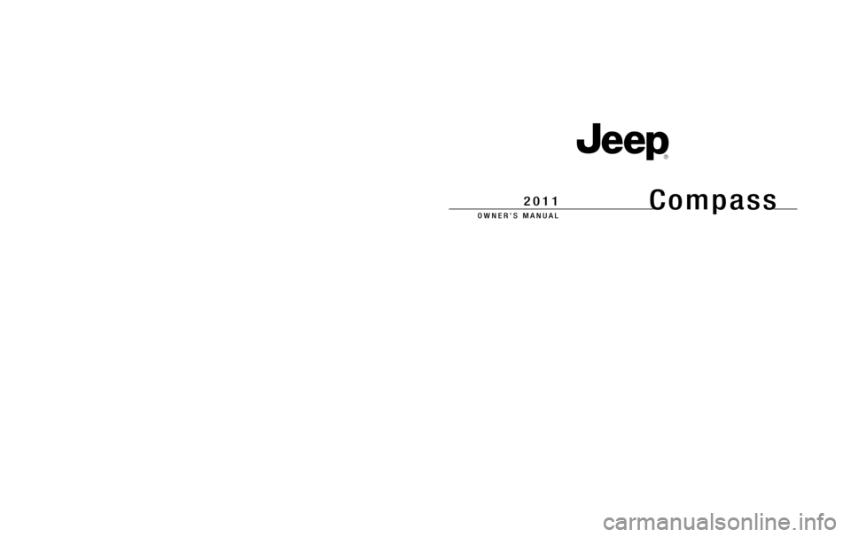 JEEP COMPASS 2011 1.G Owners Manual, Page 1