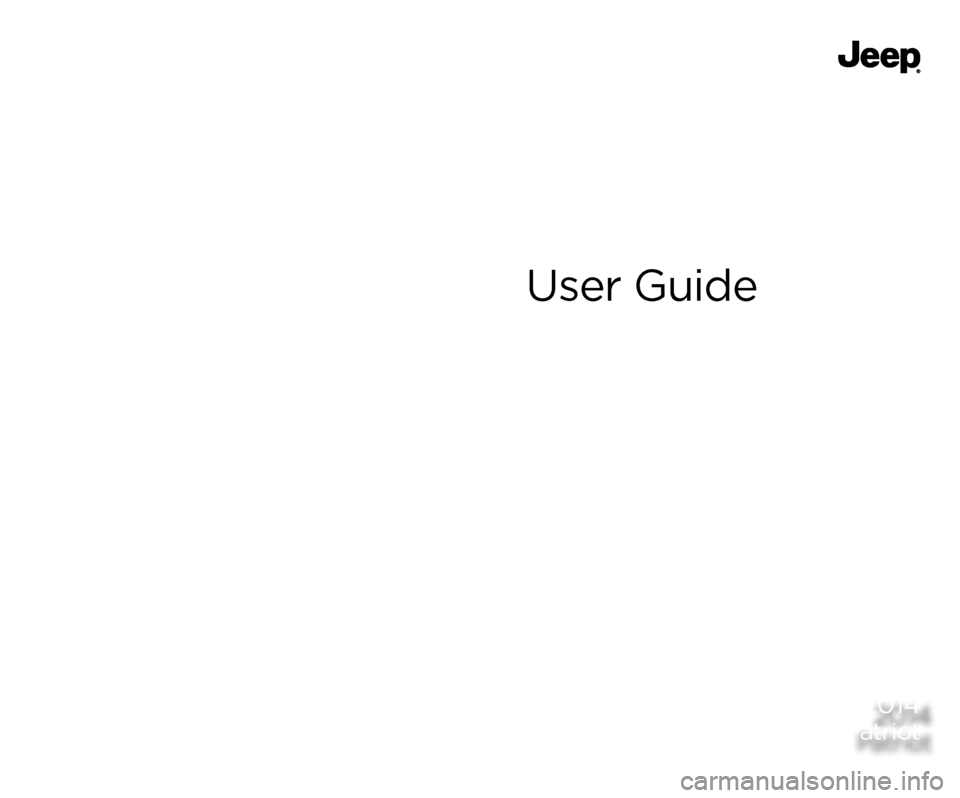 JEEP PATRIOT 2014 1.G User Guide, Page 1
