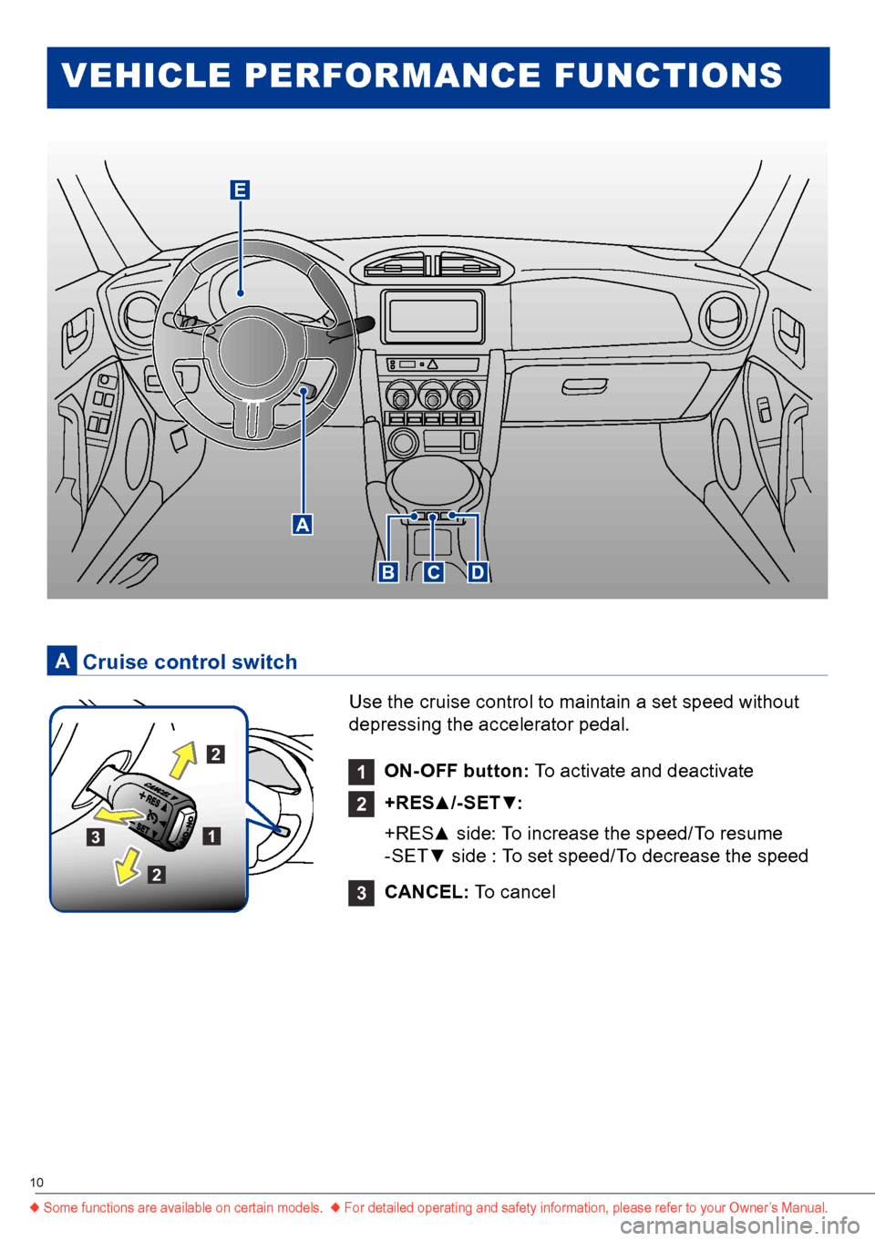 SUBARU BRZ 2016 1.G Quick Reference Guide, Page 10