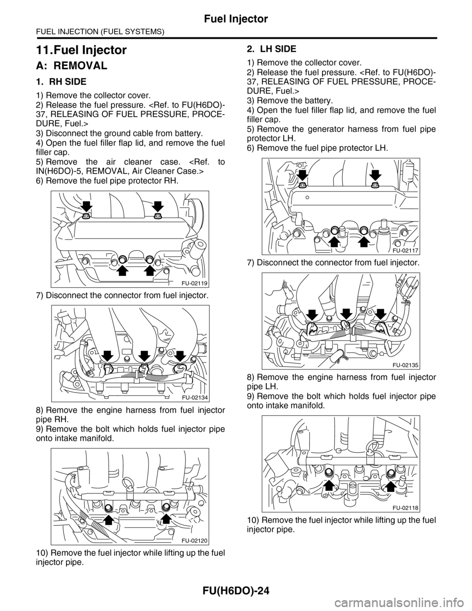 Subaru Tribeca 2009 1g Service Workshop Manual Fuel Pressure Diagram Page 1585