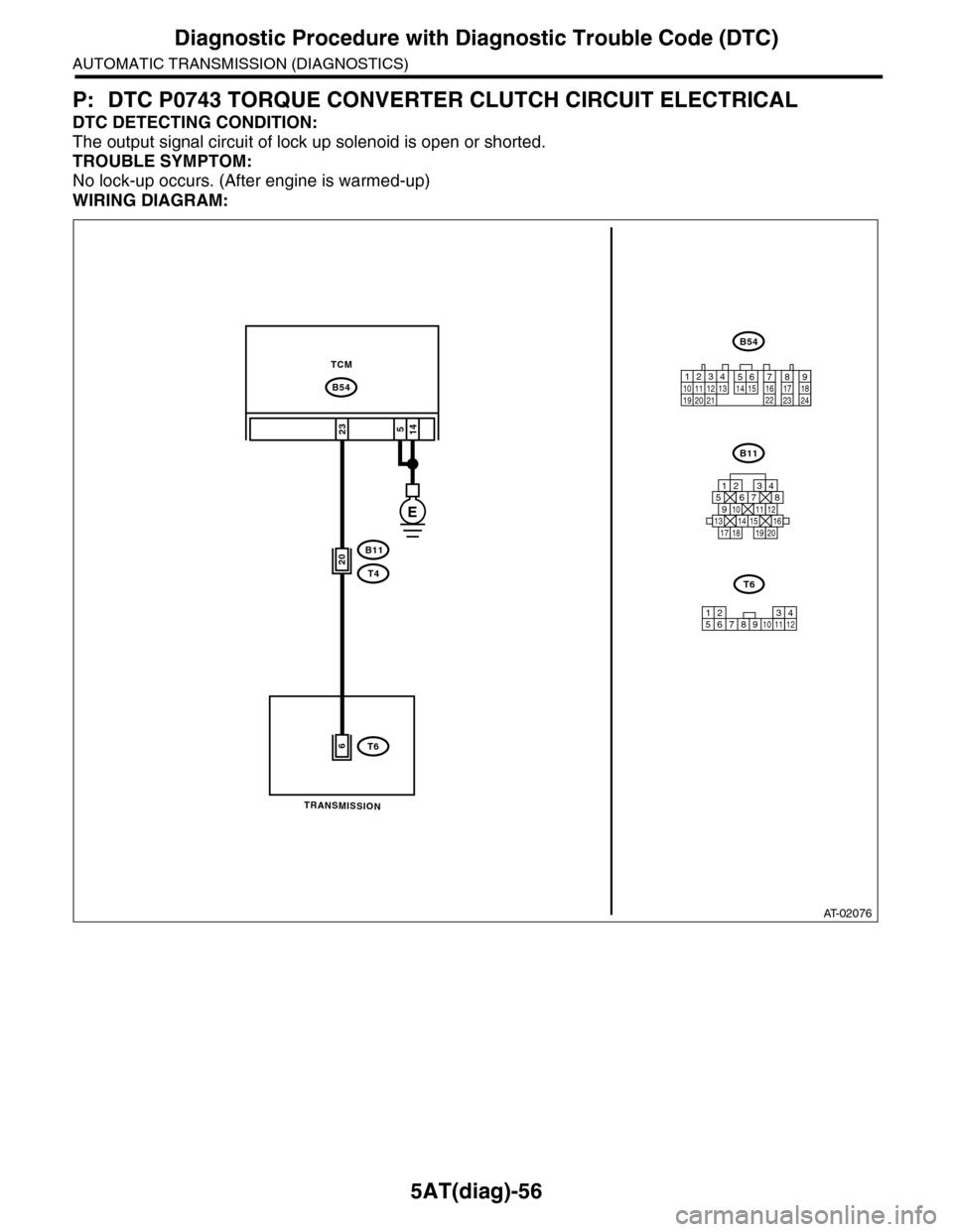 Subaru Tribeca 2009 1g Service Workshop Manual Wiring Diagram Page 2173