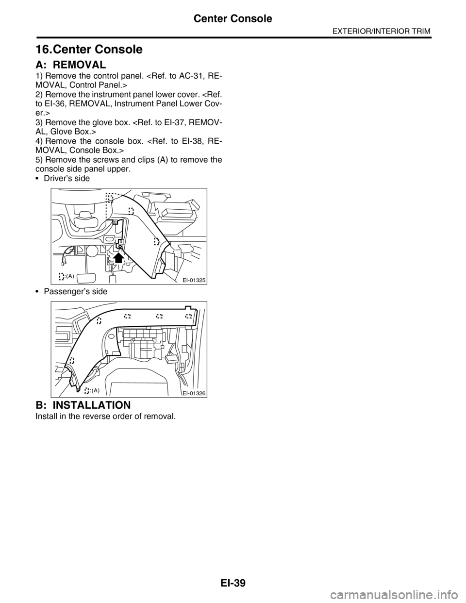 subaru tribeca service manual pdf
