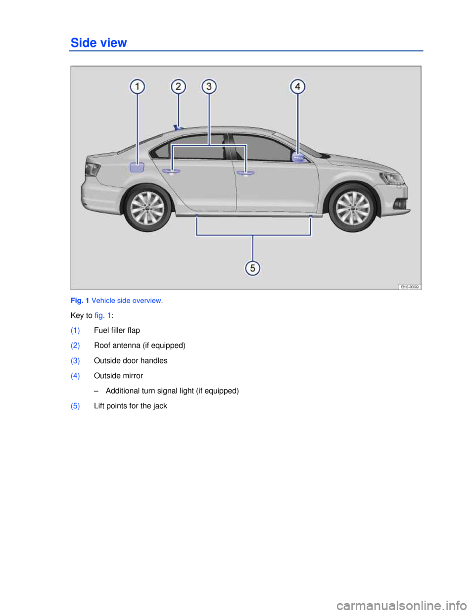 VOLKSWAGEN JETTA 2013 1B / 6.G Owners Manual, Page 1