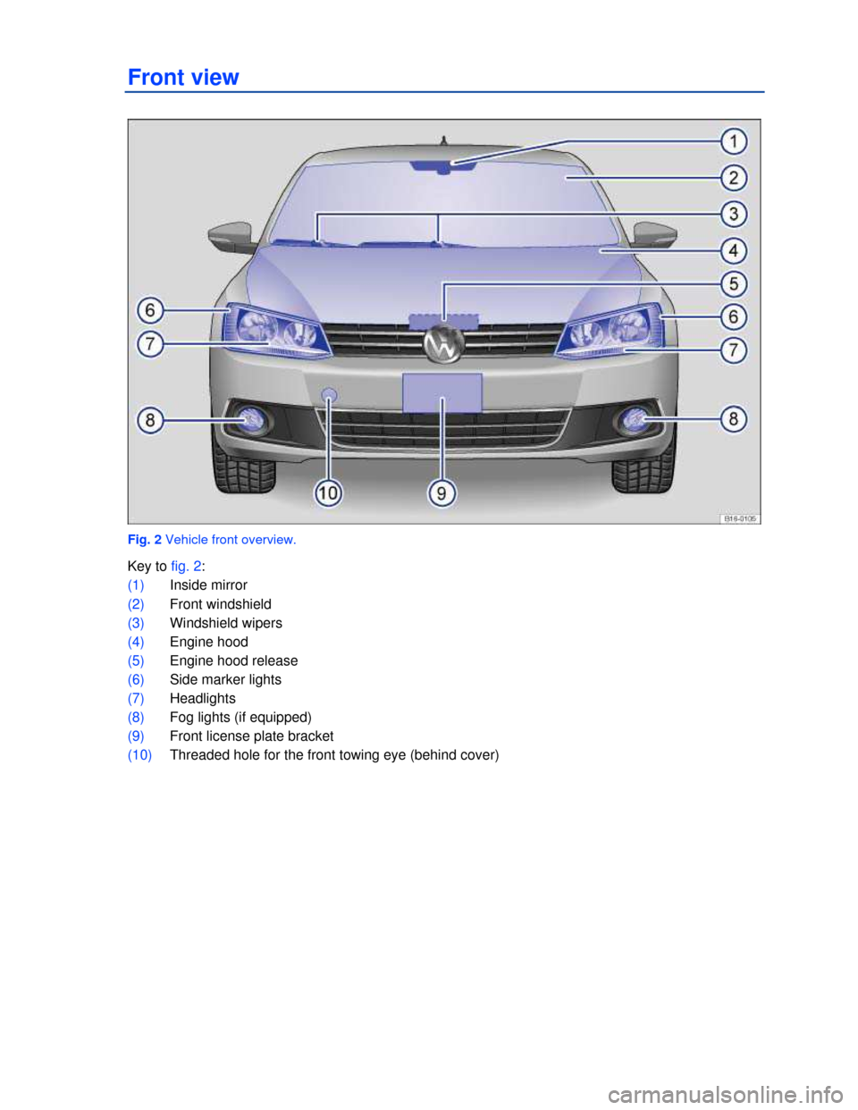 VOLKSWAGEN JETTA 2013 1B / 6.G Owners Manual, Page 2