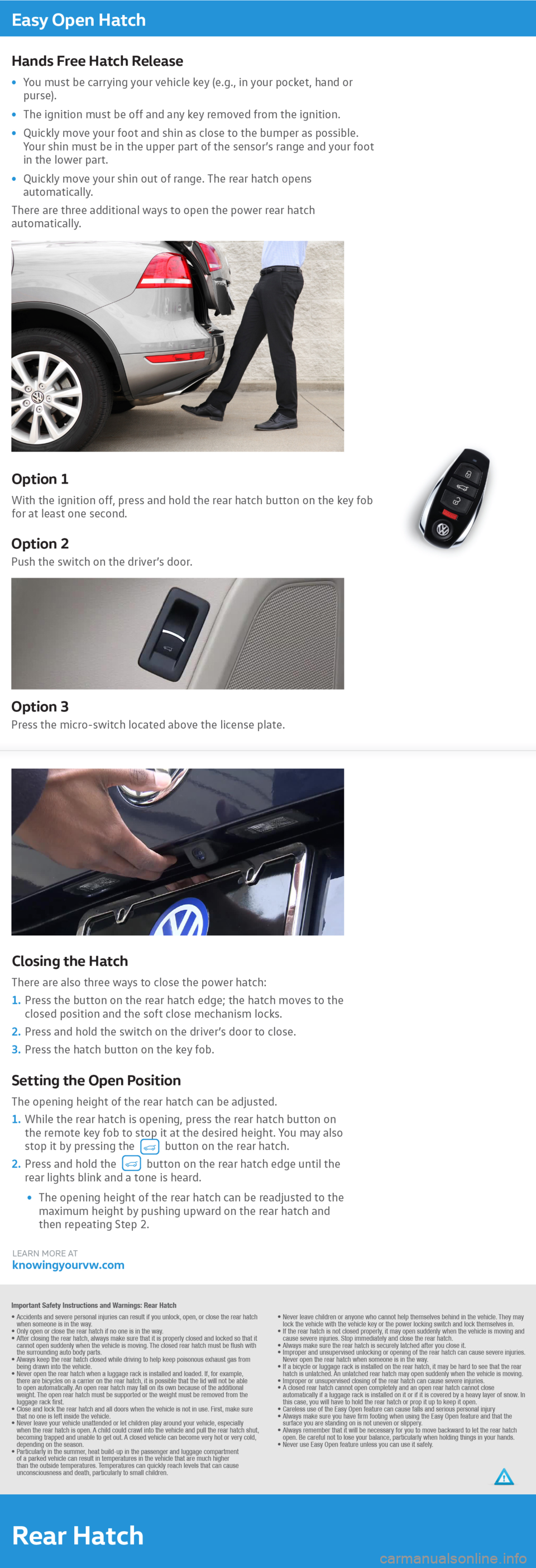 VOLKSWAGEN TOUAREG 2016 2.G Quick Start Guide, Page 8