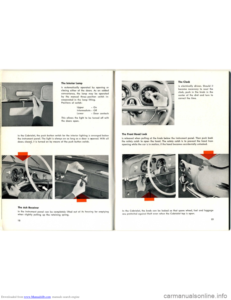 VOLKSWAGEN KARMANN GHIA 1958 1.G Owners Manual, Page 11